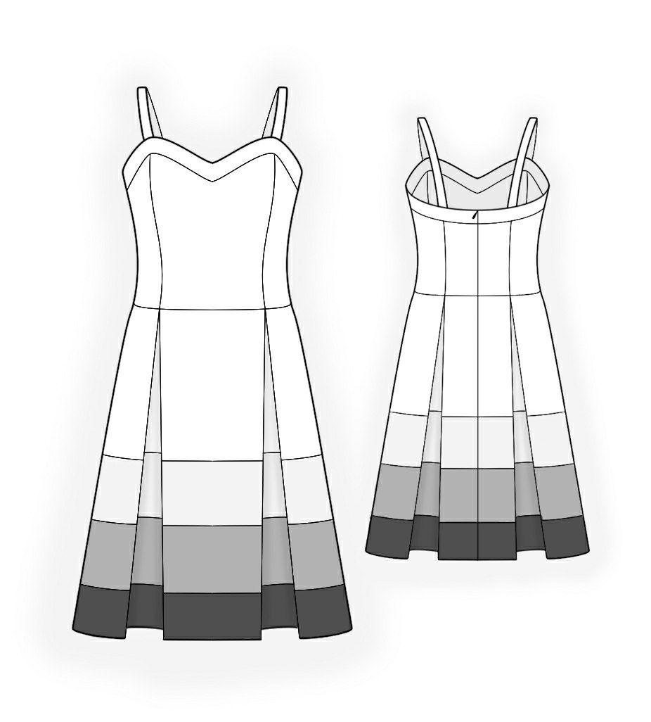 Robe Bain De Soleil - Patrons de couture #4131 Made-to-measure ...