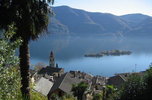 Lago Maggiore mit Brissago Inseln Tessin Schweiz