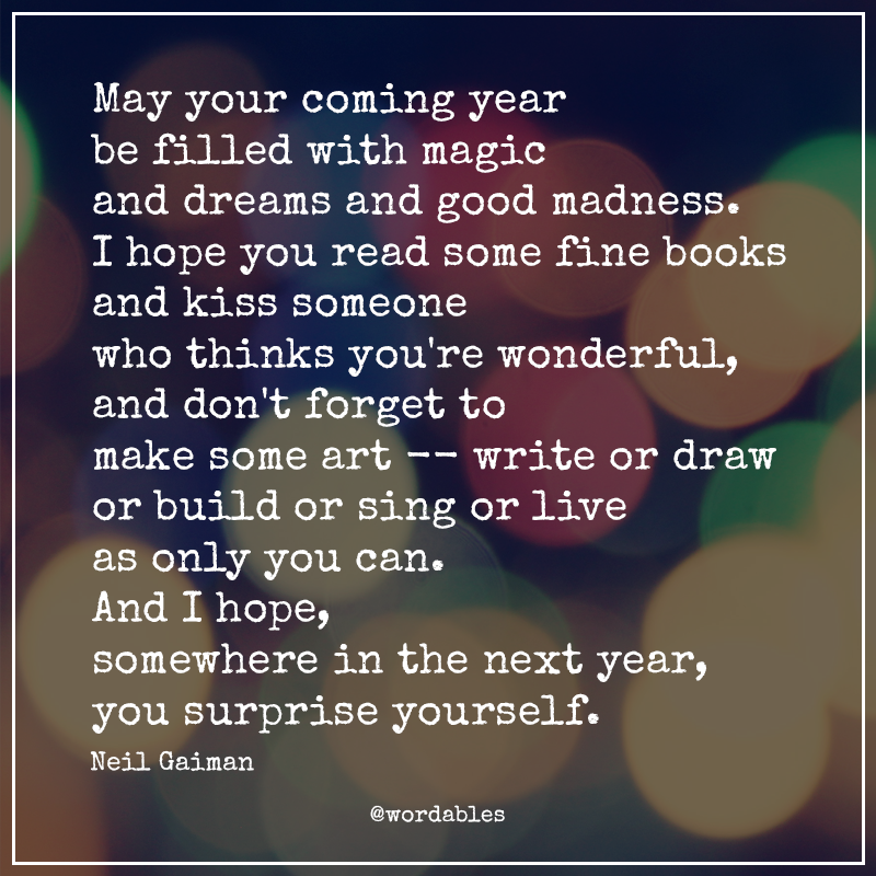 Neil Gaiman New Year Quotes: A Perfect And Wonderful New Year Message From Neil Gaiman