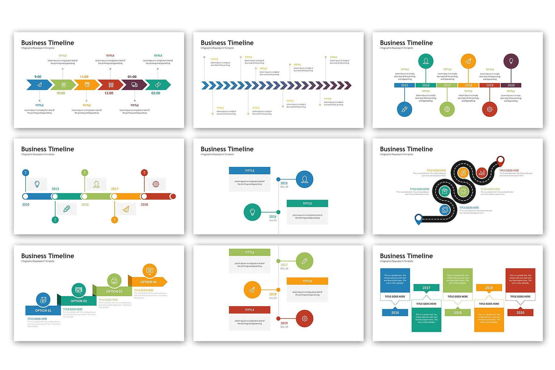 timeline presentation infographic powerpoint templates