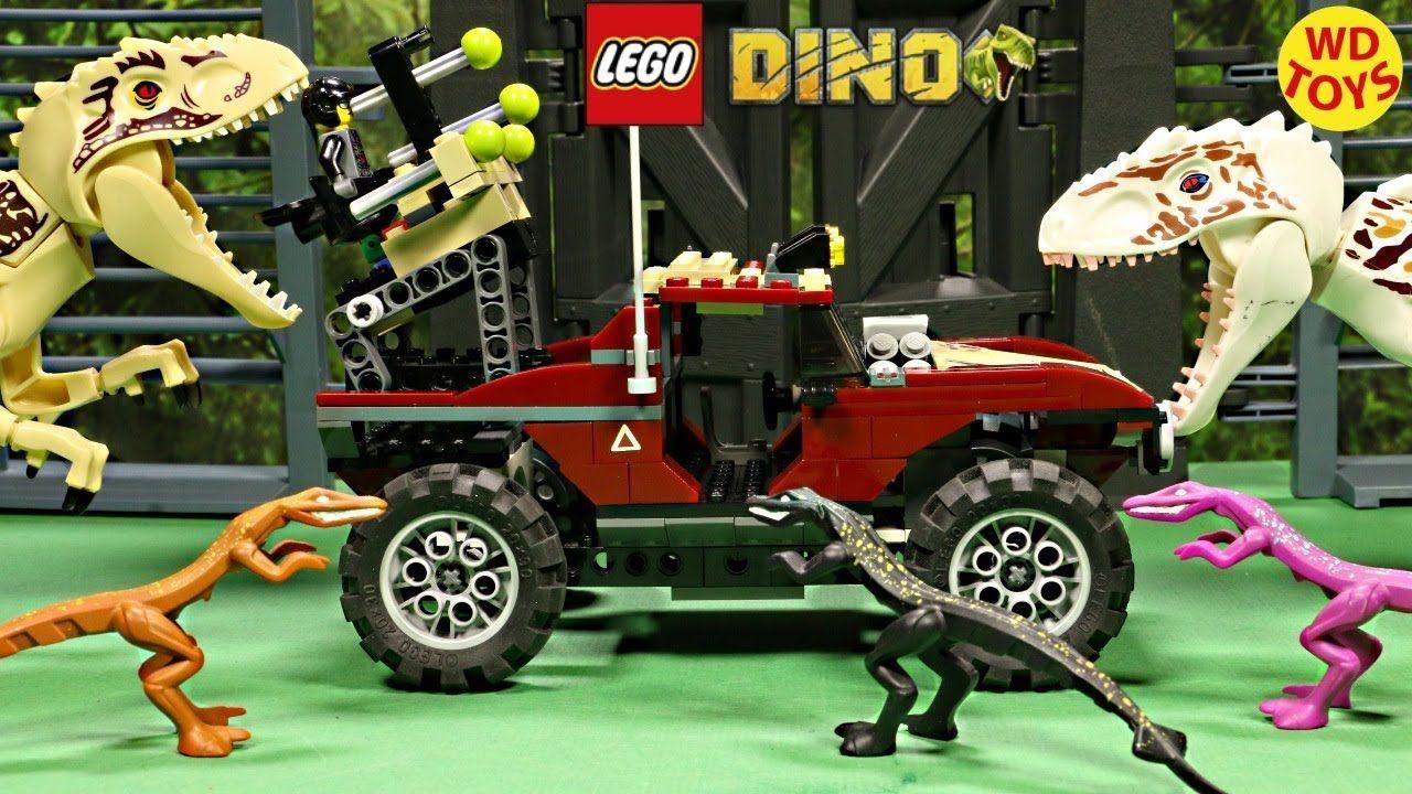New Lego Dino Attack Fire Hammer Vs Mutant Lizards 7475 Stop Motion