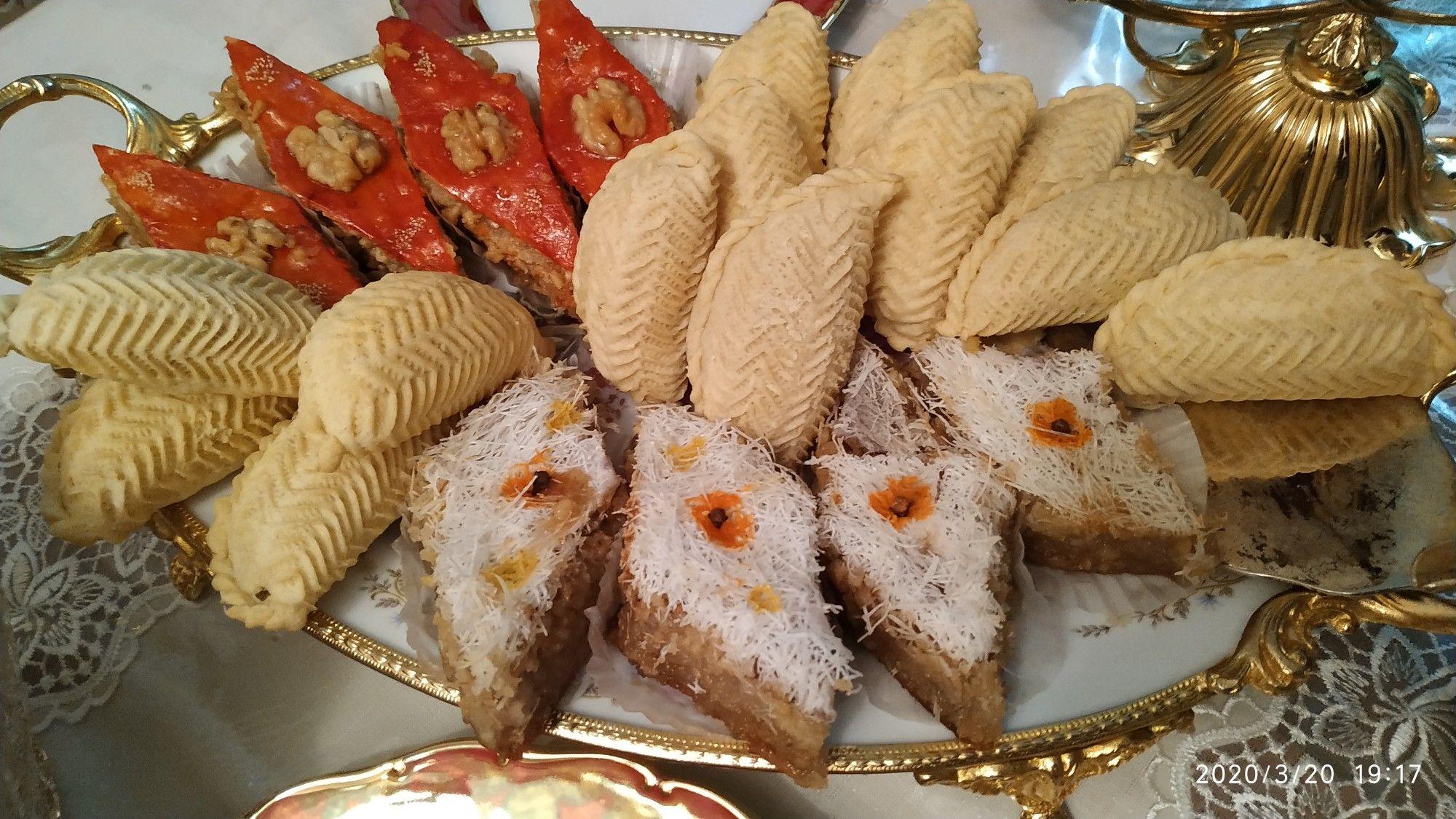 Paxlava Səkərbura Irisdə Paxlava Food Bread