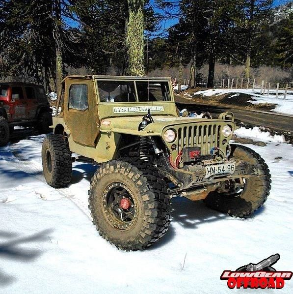 Snow Jeep With Big Tires Willys Mb Willys Jeep