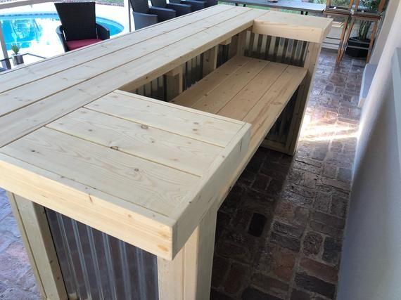 The Indoor Thomas 3 X 8 X 3 2 Level Corrugated Metal