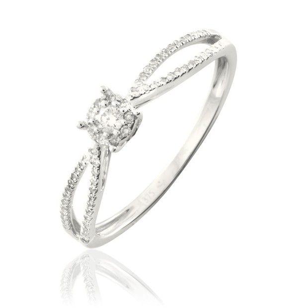 Bague Or et Diamant - B3DFBDW429N - Histoire d'Or | Bague or ...