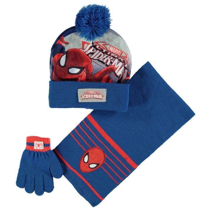 Spider-Man Boys/' or Little Boys/' Hat /& Gloves Set