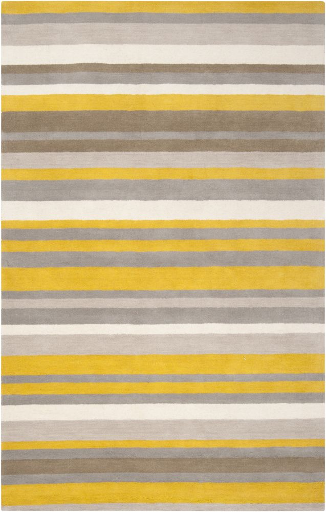 Oh This Might Be Perfect For Our Bedroom! Yellow And Grey Striped Rug!