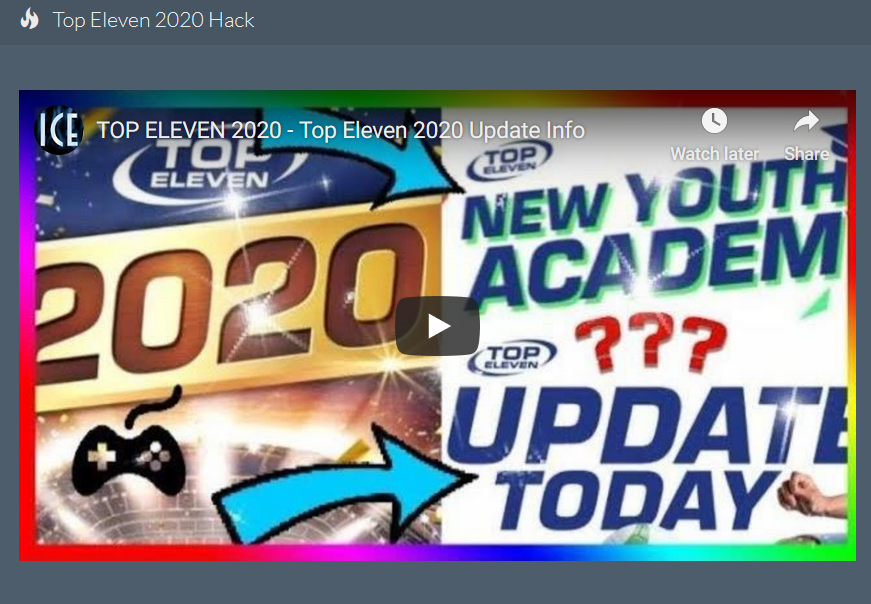 Top Eleven 2020 Hack 200m Free Tokens Cheats Ios Android Codes Management Games Hacks Eleventh