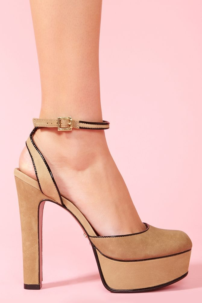 Elke Platform - Taupe In Shoes Heels At Nasty Gal  Sexy -1049