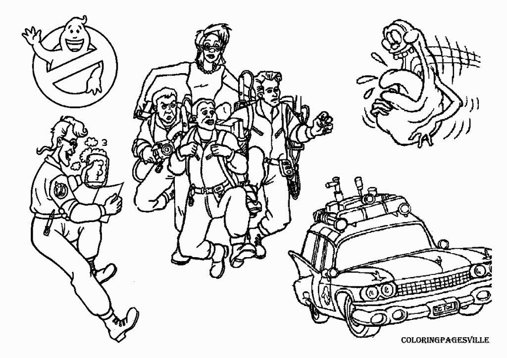 Ghostbuster car coloring pages ~ Ghostbusters Coloring Pages | Shark coloring pages ...
