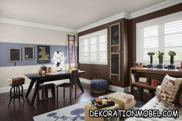 Braun grau wandfarbe wohnzimmer wohnideen streichen moderne möbel