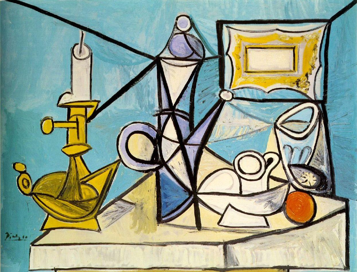 Pablo Picasso - Nature morte au bougeoir (Nature morte à la ...