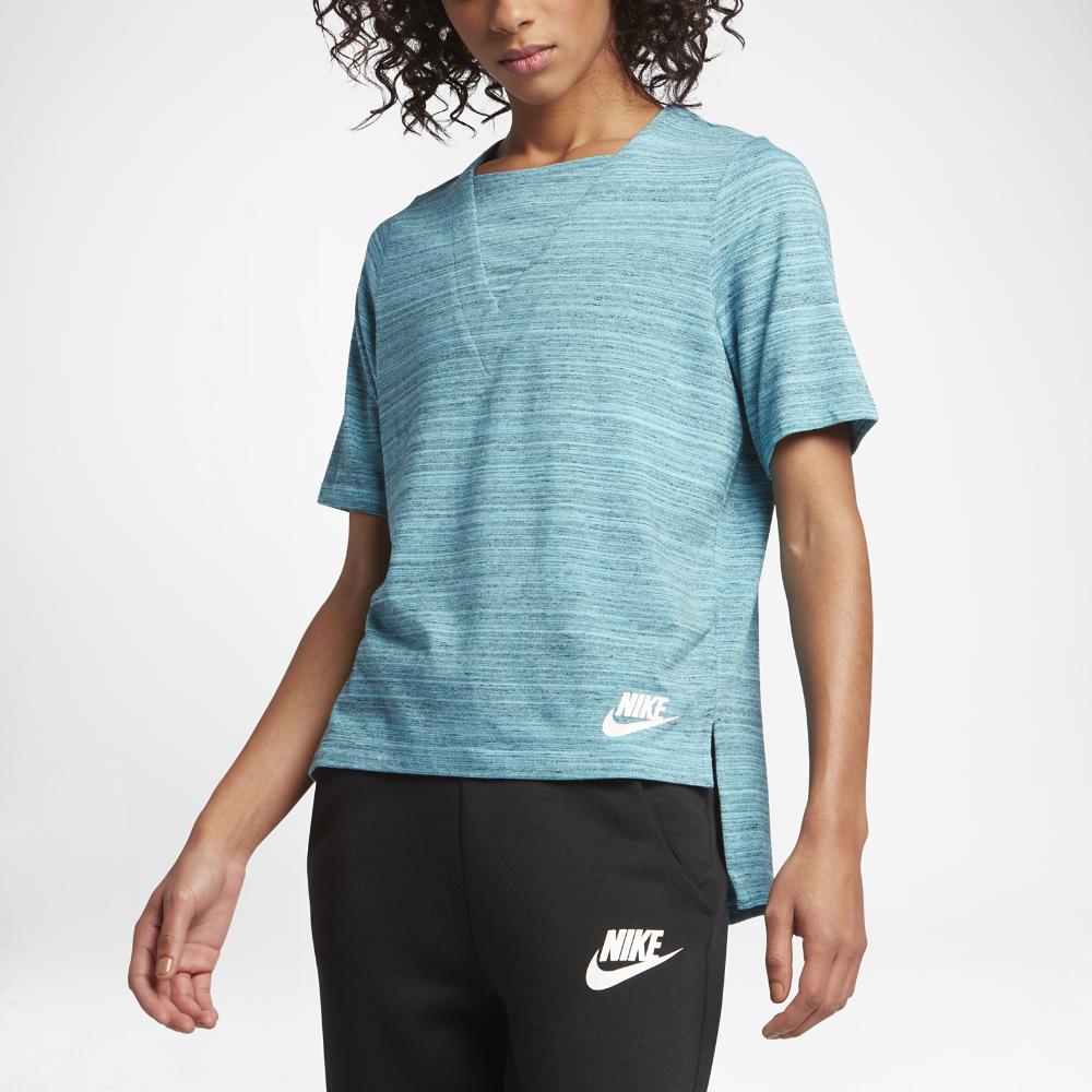 Nike Sportswear Advance 15 Women s Short Sleeve Top Size Medium (Blue) -  Clearance Sale 1d3d88492