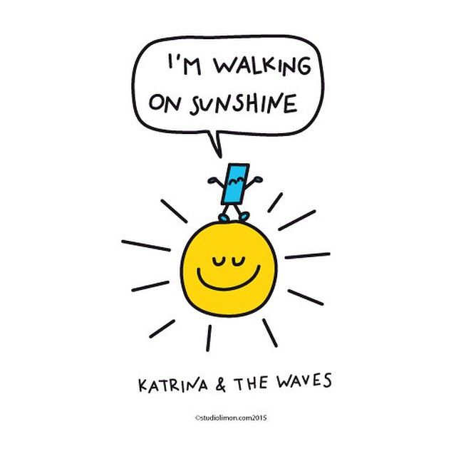 Walking on sunshine! #katrinaandthrwaves #lyrics #song #sunshine - why is there fuzz on a tennis ball
