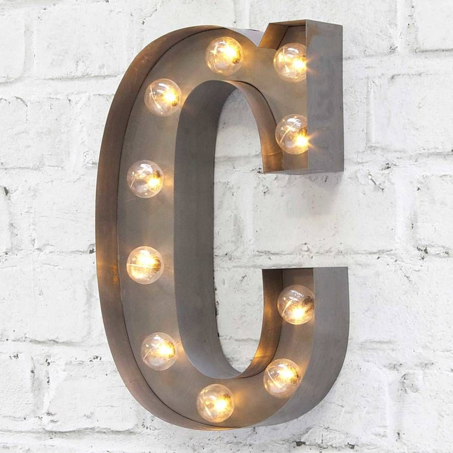Carnival Letter Lights A To Z Silver Home