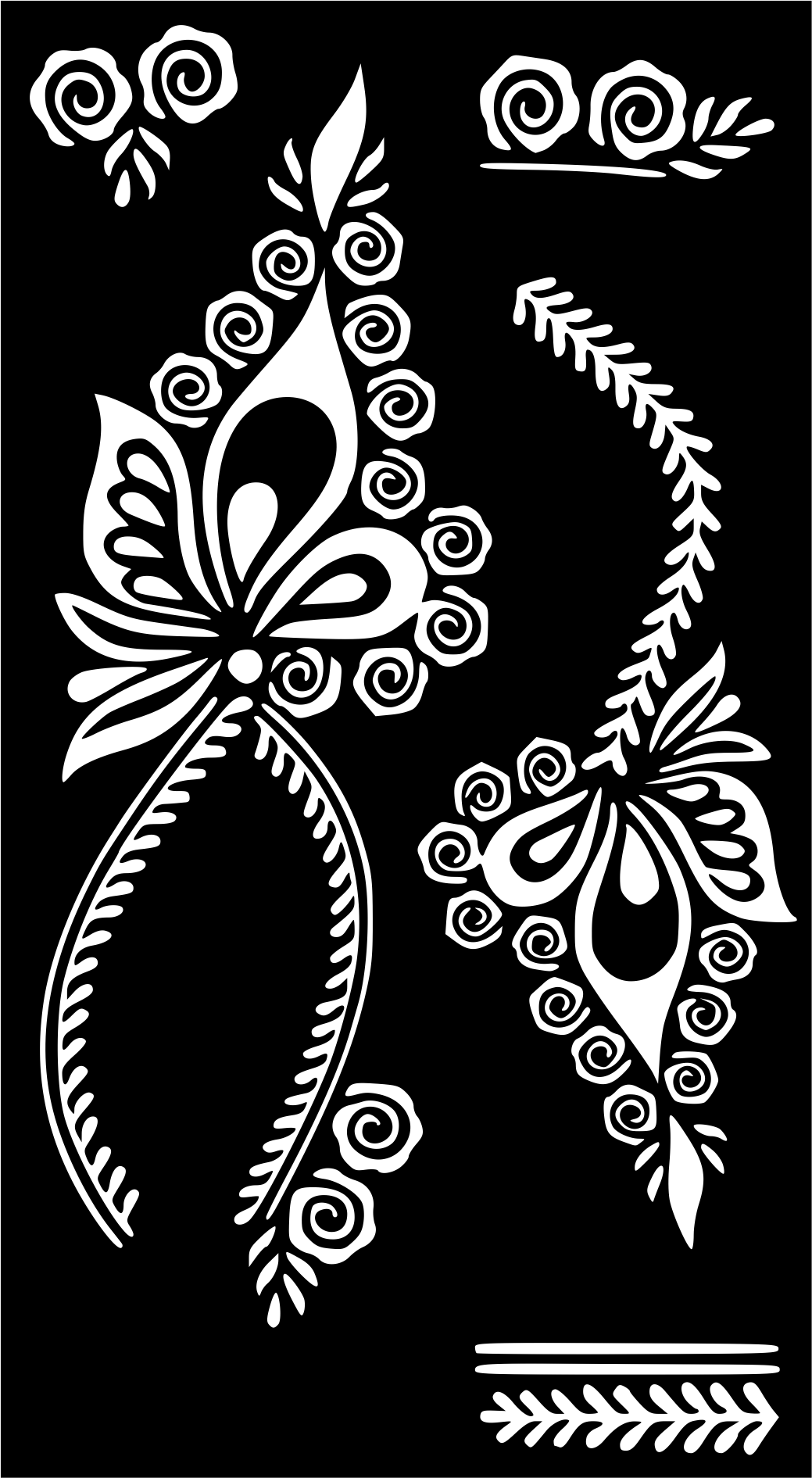 Henna Temporary Tattoo Body Art Sticker Stencil