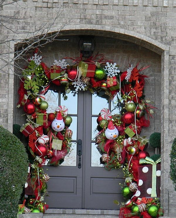 ideas para decorar la entrada de casa para navidad