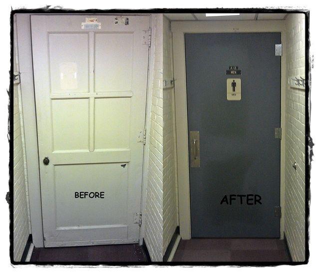 Lane Hall Virginia Tech Blacksburg Va Hollow Metal Door Existing Frame Reused Re Anchored And All New Hardwa Hollow Metal Doors Locker Storage Metal Door