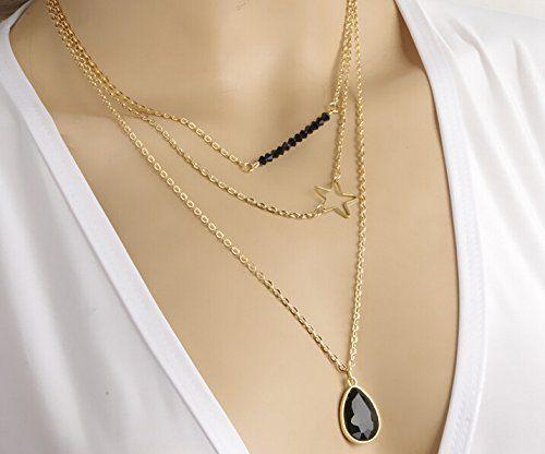 Beancase(TM) Fashion Gloden Black Gem Pendant Star Tiny Bar Womens Lady Necklace(1 Pc) null http://www.amazon.com/dp/B00SOVPYYE/ref=cm_sw_r_pi_dp_Typfvb1A5JFY2