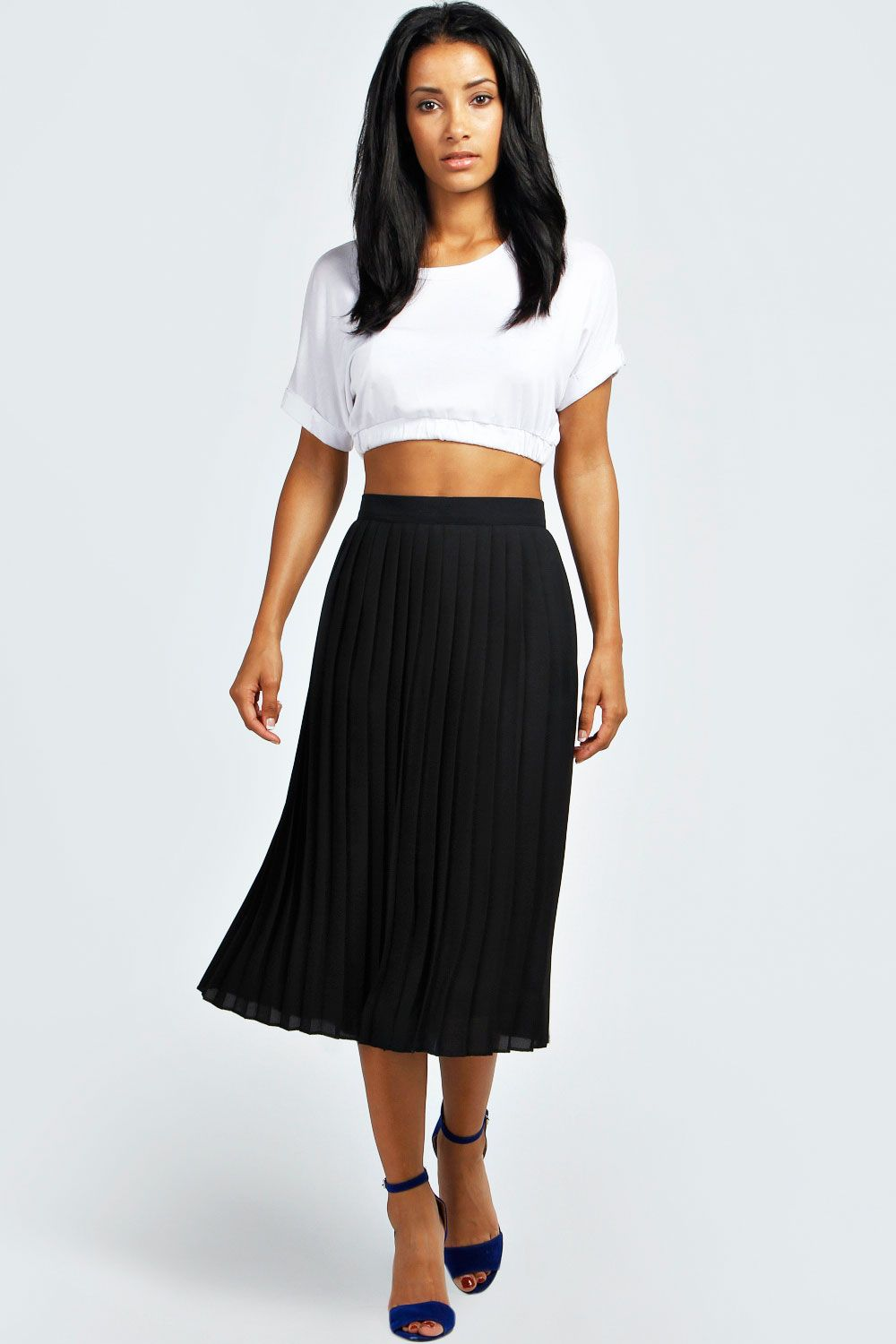 7068a27c1 Casey Pleated Woven Midi Skirt | Shopping Wish List: Clothes & Shoes ...