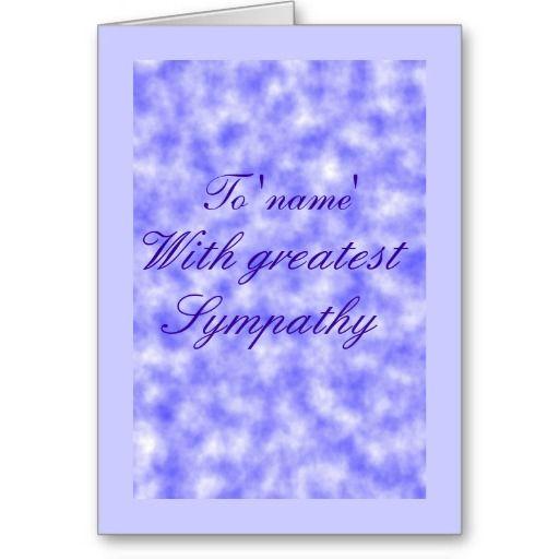 Blue Clouds Sympathy card