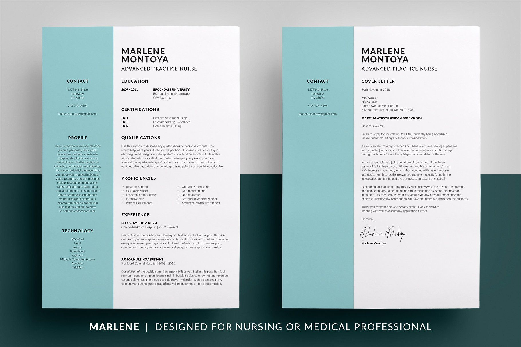 Essential Resume Collection #nursing#medical#Designed ...