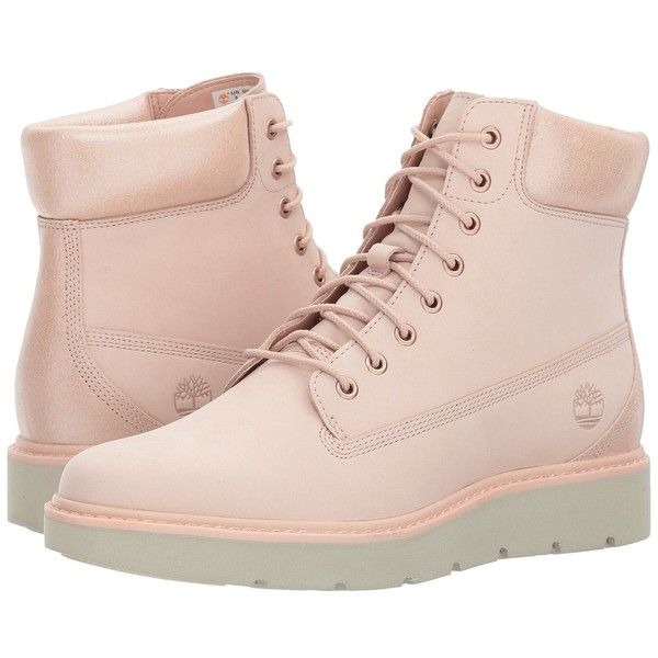 424b2845bce0 Timberland Kenniston 6 Lace-Up Boot (Light Pink Nubuck) Women s... ( 140) ❤  liked on Polyvore featuring shoes