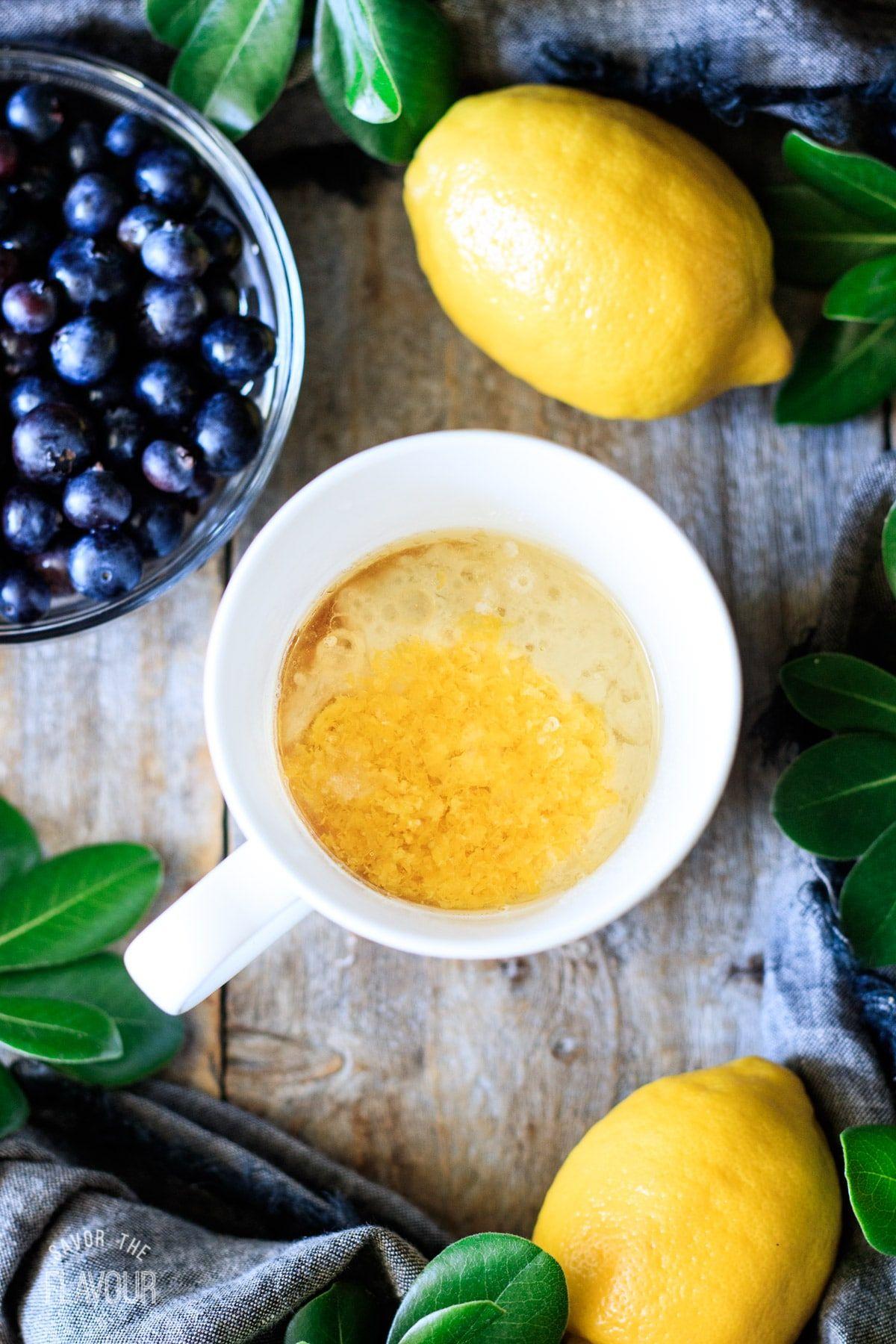 Lemon Blueberry Mug Cake | Recipe in 2020 | Lemon ...