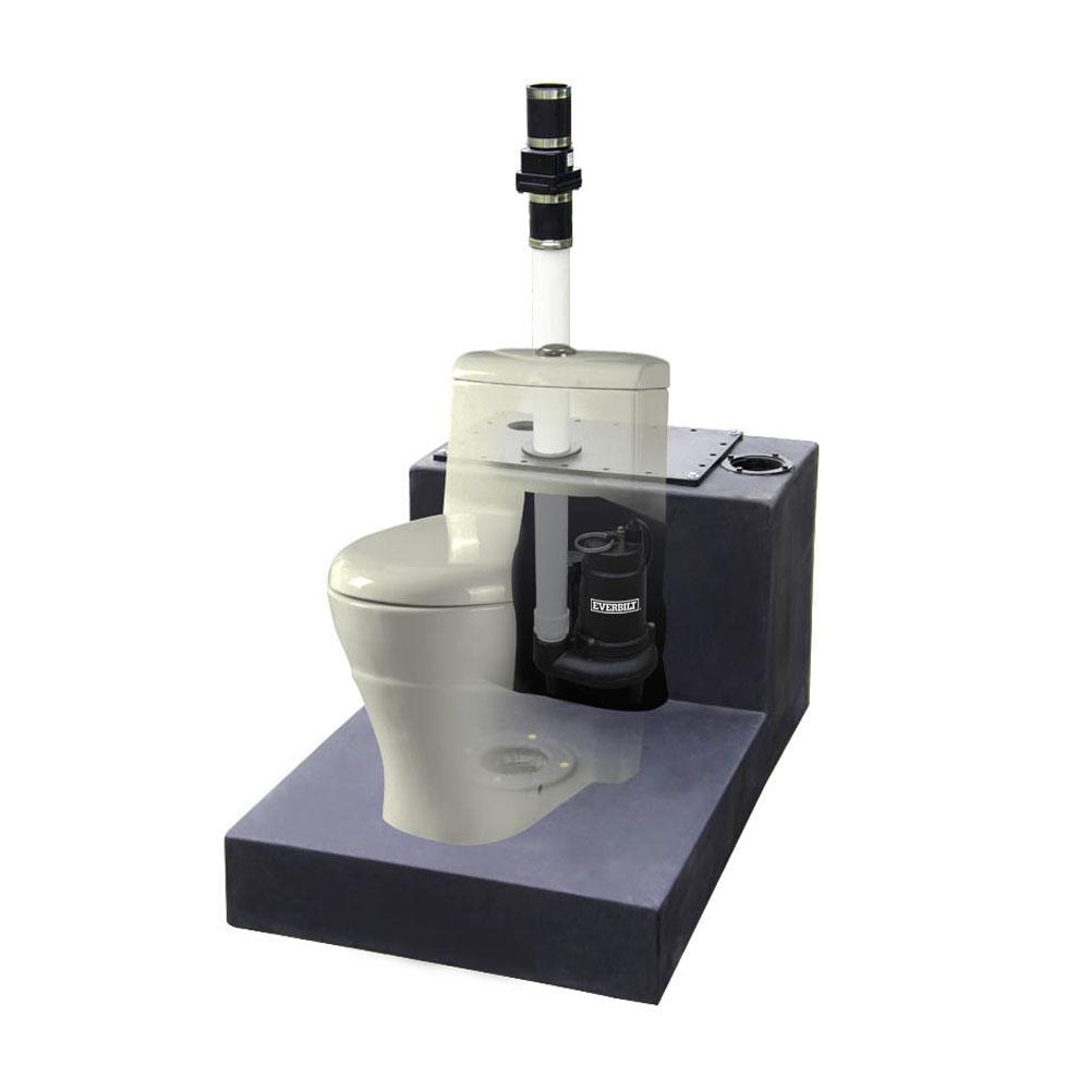 Everbilt 1/2 HP Upflush System Sewage Pump KitSW07501TC