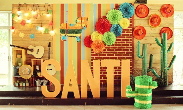 Santis Mexican Fiesta Themed Party Stage Setup Party Ideas