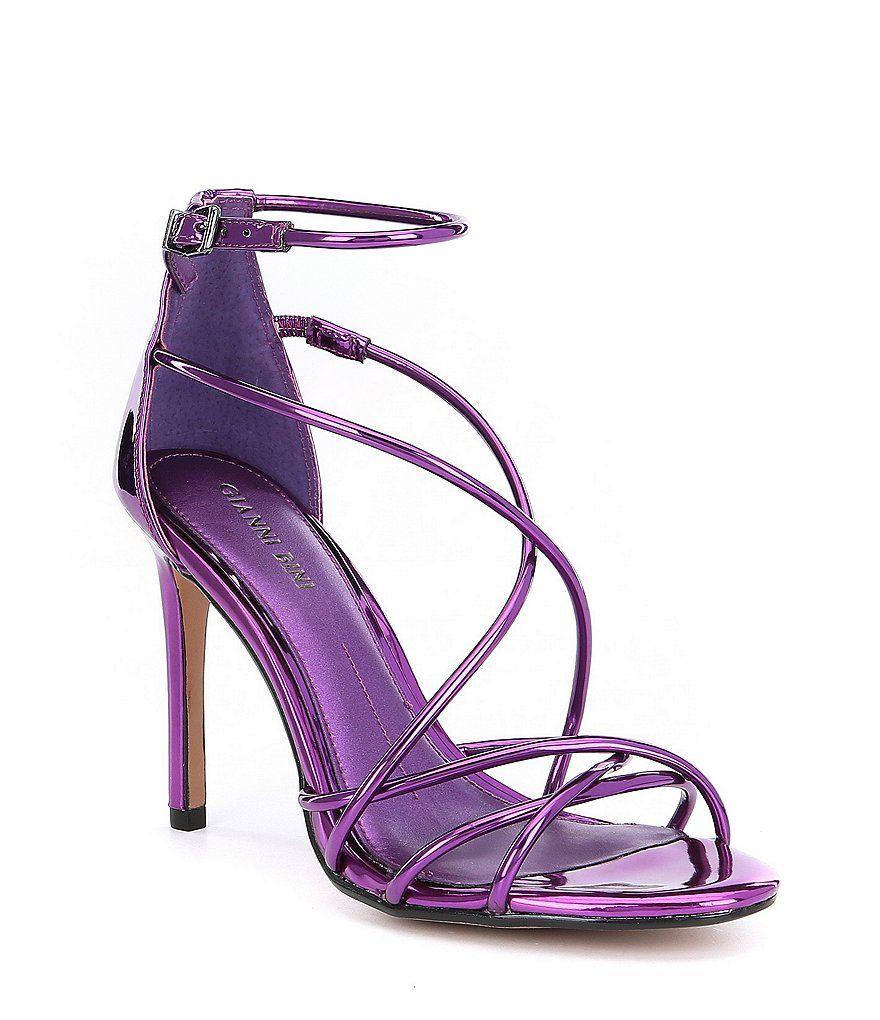 9296a5551df Gianni Bini Talisia Tubular Mirrored Strappy Dress Sandals ...