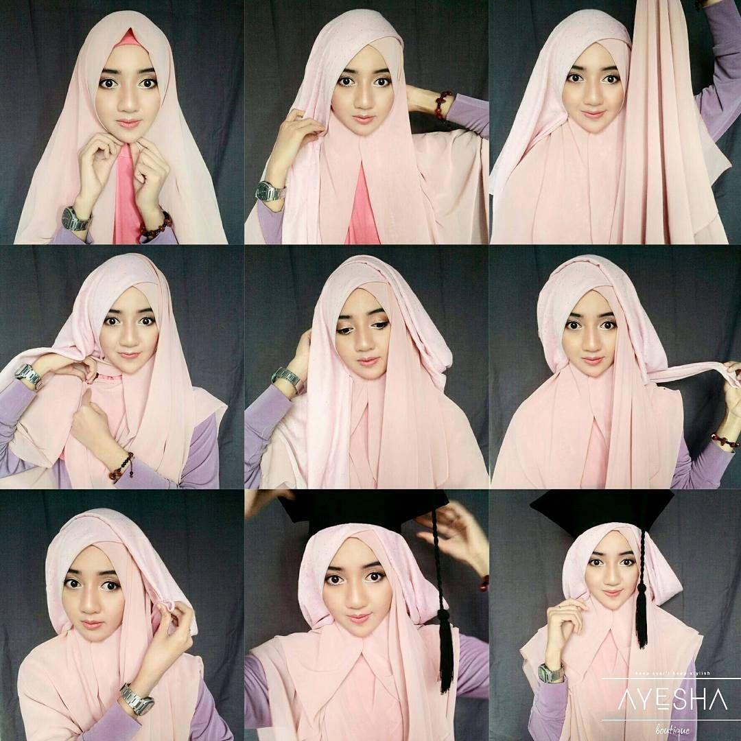 Tutorial Hijab Wisuda Syar I By Https Www Instagram Com