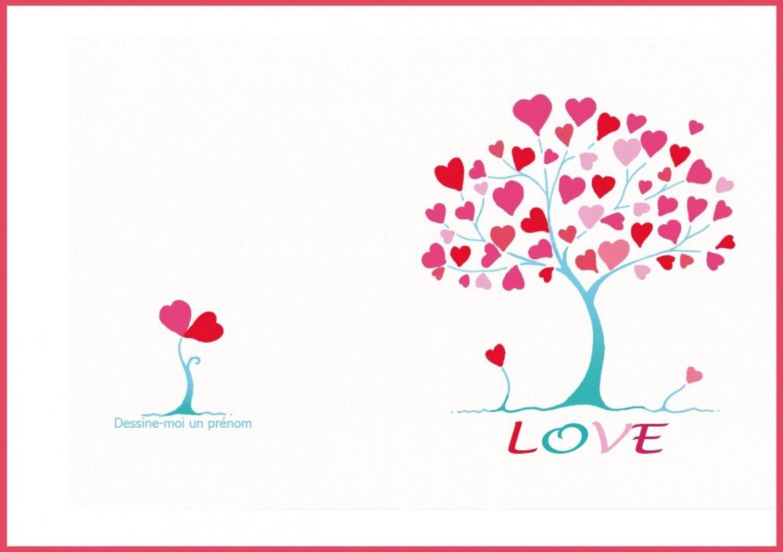 carte saint valentin à imprimer Carte St Valentin Gratuite À Imprimer | Carte saint valentin