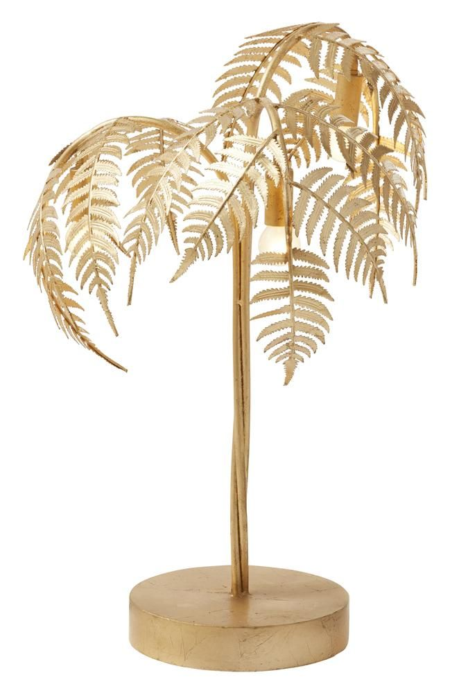 Palm Table Lamp Pair
