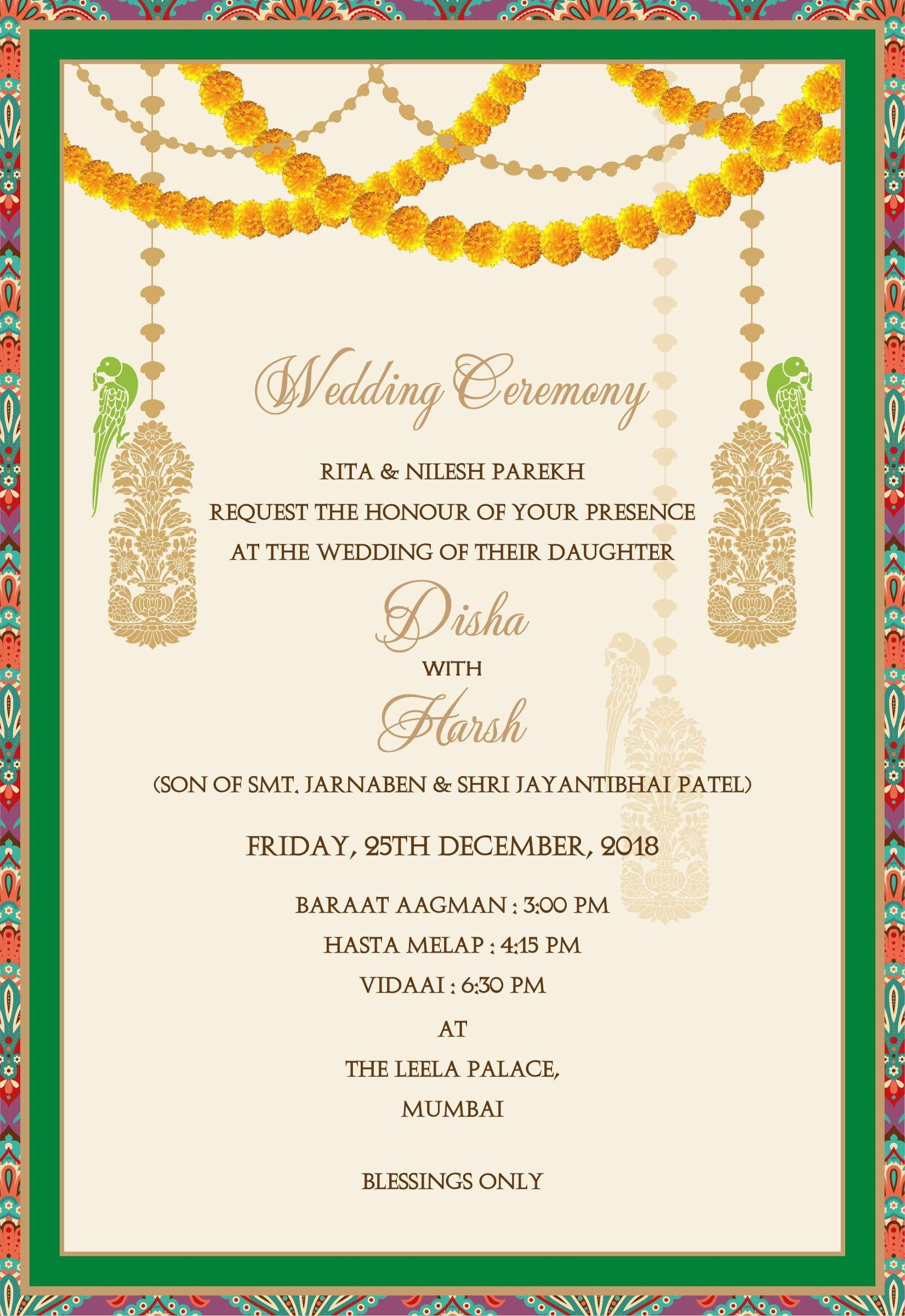 16 Indian Wedding Invitation Template Indian Wedding Invitation Cards Hindu Wedding Invitations Indian Wedding Invitation Wording
