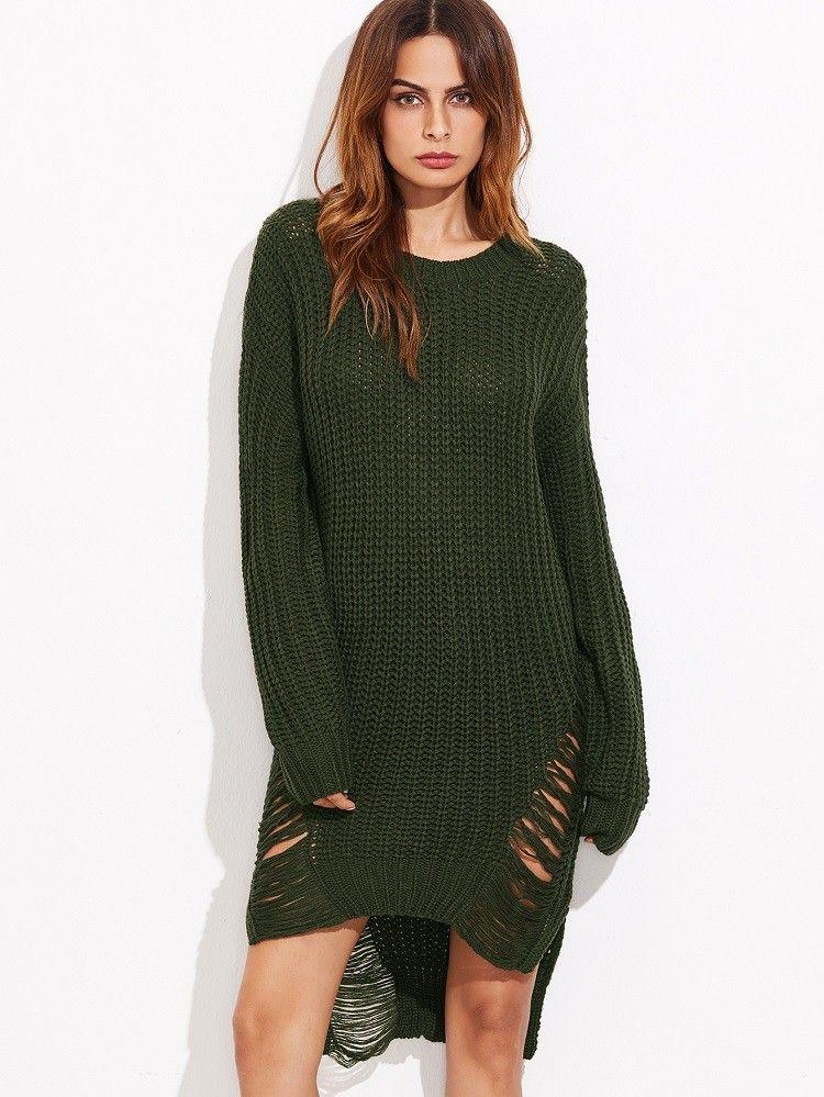 Kleid oliv grun