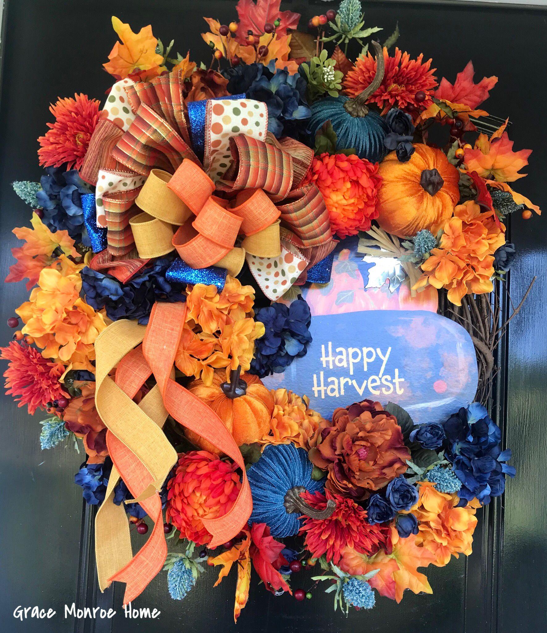 Photo of Fall Wreath – Front Door Wreath