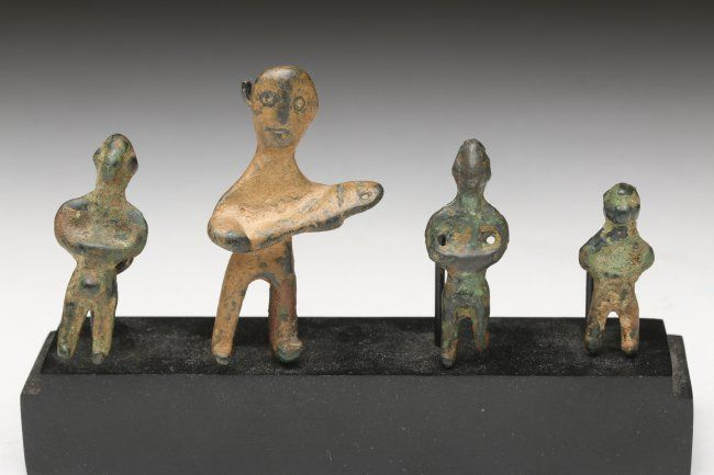 Group of 4 Luristan Bronze Figural Amulets : Lot 27A