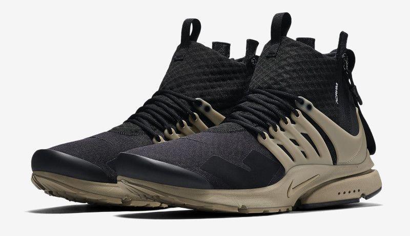 NikeLab Air Presto Mid x Acronym Black