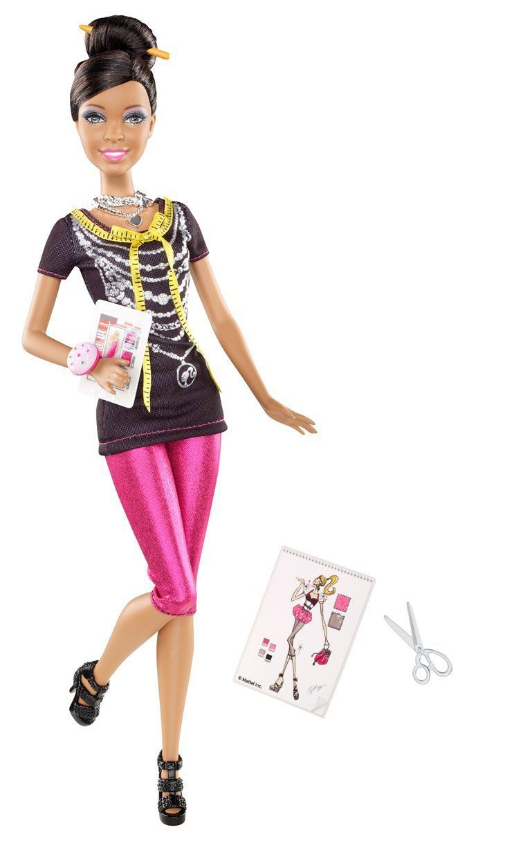 Amazon Com Barbie I Can Be Fashion Designer African American Doll Toys Games Barbie Fashionista Barbie Fashion Designer Barbie Fashion