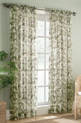 Sheer Fiji Crinkled Curtain Panel Curtains Sheer Curtains
