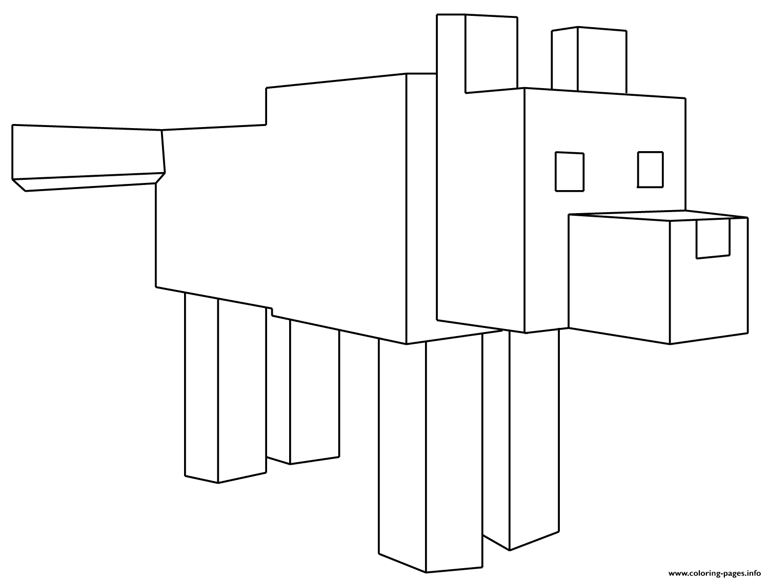 Print Minecraft Wolf Coloring Pages Minecraft Coloring Pages Coloring Pages Minecraft Wolf [ 1132 x 1500 Pixel ]