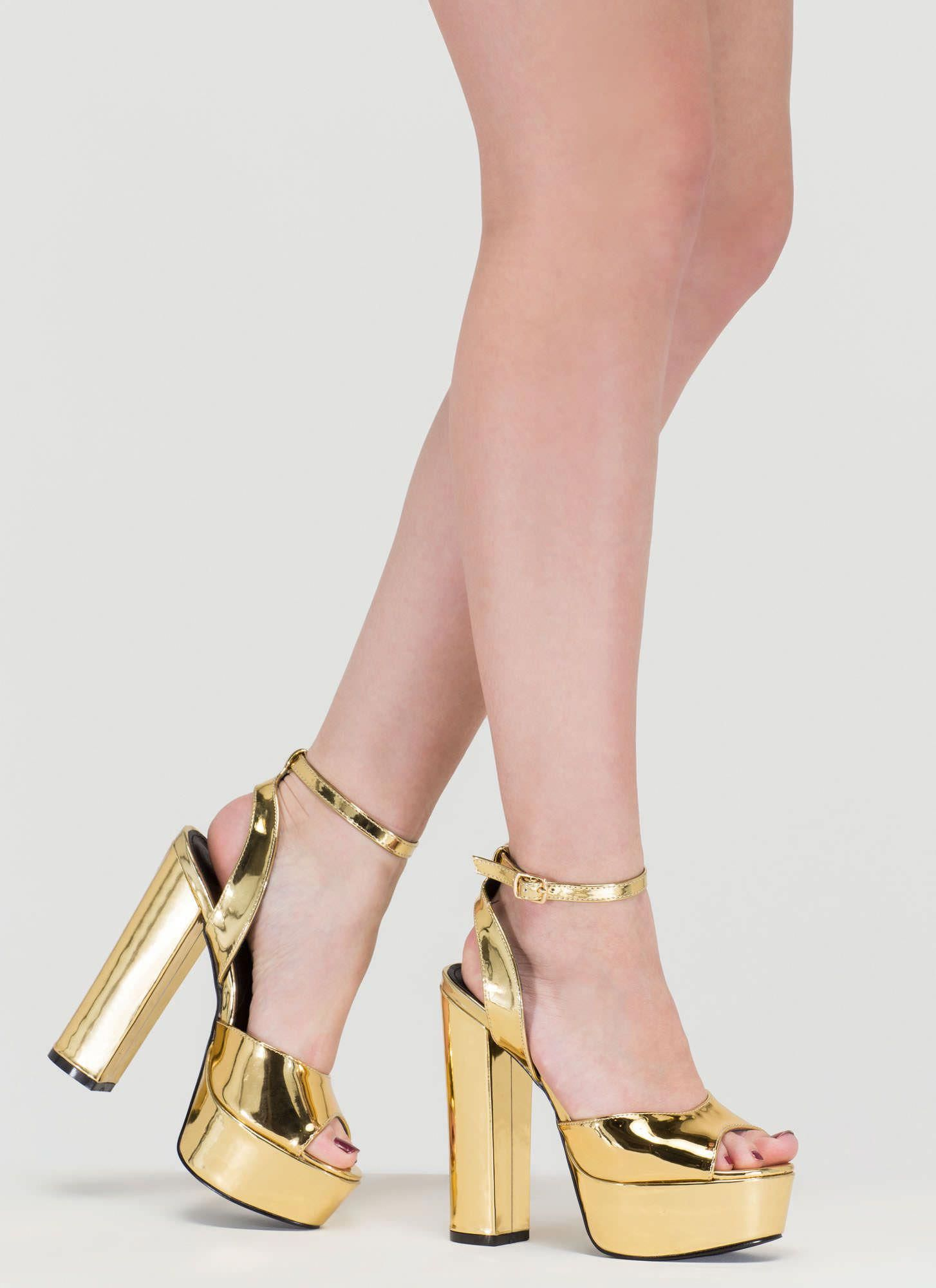 d34b9763a2d Channel your fave seventies bae in these chunky platform heels!  heels   platforms