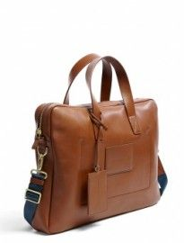 Marc By Jacobs Tan Smooth Leather Class Act Briefcase Bag Men Bags