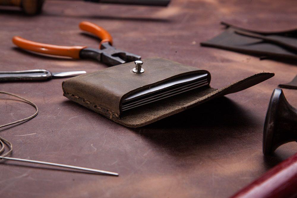 Leather Business Card Holder, Handmade, Card Holder, Card Case, Gift ...