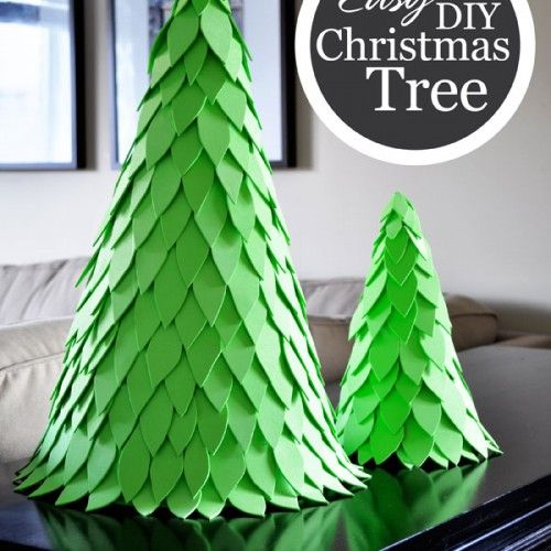 Christmas Tree With Foam Leaves & Styrofoam Cone