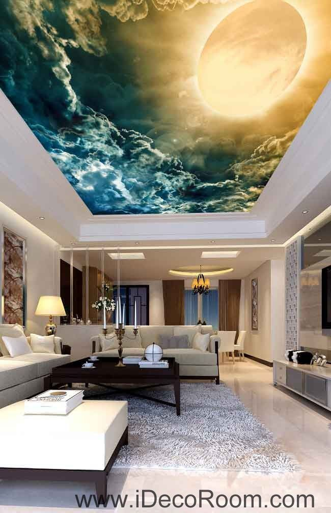 Sunlignt Solar Clouds Wallpaper Wall Decals Wall Art Print Business Kids Wall Paper Nursery Mural Home Decor Removable Wall Stickers Ceiling Decal Large Wall Murals Floor Murals Ceiling Murals