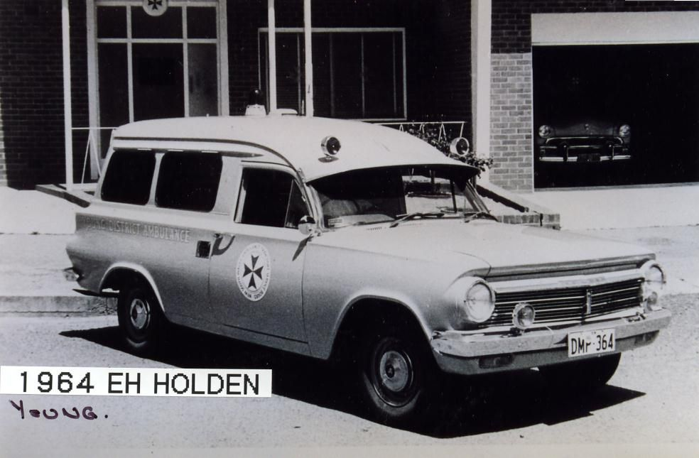 1964 Holden EH Panel Van. NSW Ambulance Service vehicle, used by the ...