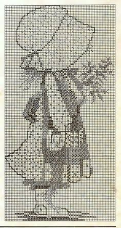 Pin On Cross Stitch Little Girl