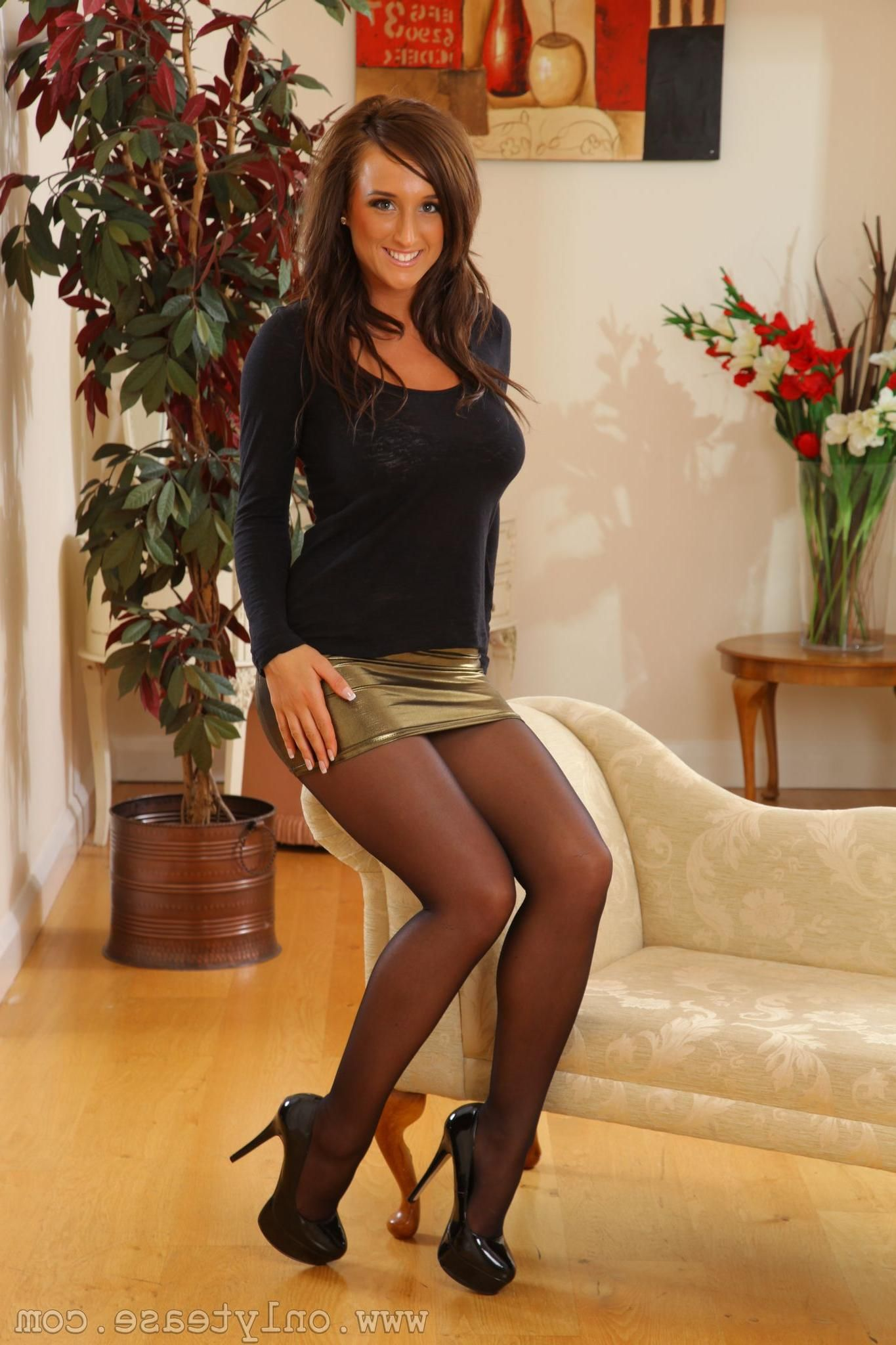 Black gold hudson pantyhose